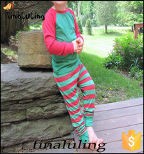 Fashion New Children Christmas Pajamas Kids Red and Green Striped Pajamas Plain Sleepwear