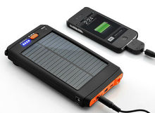 11200mAh High Capacity Solar Charger and Battery with Flashlight (PB-08)