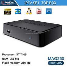 Wholesale Price Europe Linux Mag 260 mag 254 MAG 250 Iptv Box with US Box Office,FOX,Dubai channel,FR channel
