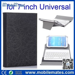 7 inch Tablet PC Leather Keyboard Case, Cheap Bluetooth Keyboard Leather Case for Tablet PC 7/8/9.7/10 inch