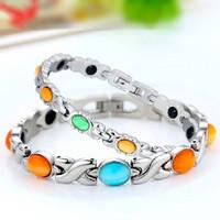 Celebrity Bio Bracelet TITANIUM Anion Magnetic Wristband Germanium Power Opal Health Energy Bangle