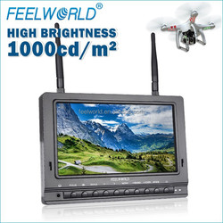 FPV 733 7 Inch 5.8GHz LCD Wireless FPV Ground Station Monitor hexacopter dji f550 Aerial Photography monitor