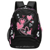 600D wholesale printing school backpack for girls
