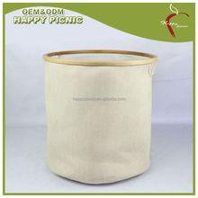 Easy style natural foldable laundry basket bamboo Delicates laundry washing bag