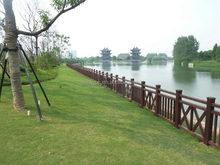 Wood plastic composite railing WPC railing WPC post from Anhui province China
