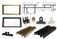 manufacture aluminium sign frame slim outline border from HS extruded aluminum profile