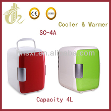 4L mini fridge/refrigerator thermoelectric cooler warmer AC/DC