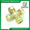 Top level useful brass cross fitting/ pex pipe
