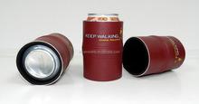OEM Cool Beer rubber Neoprene Leatherette Beer Can Cooler Holder Sleeve