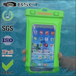 unique cellphone pvc waterproof bag for samsung swimming