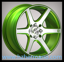 NEW Green Forged aluminum alloy wheel rim 17*7