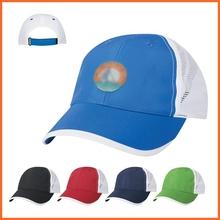 2015 Wholesale Fashion Custom Logo Print Navy Polyester Baseball Cap With Mesh Back