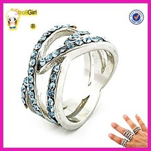 New model high quality blue sapphire rings 925 sterling silver adult power ring wholesale