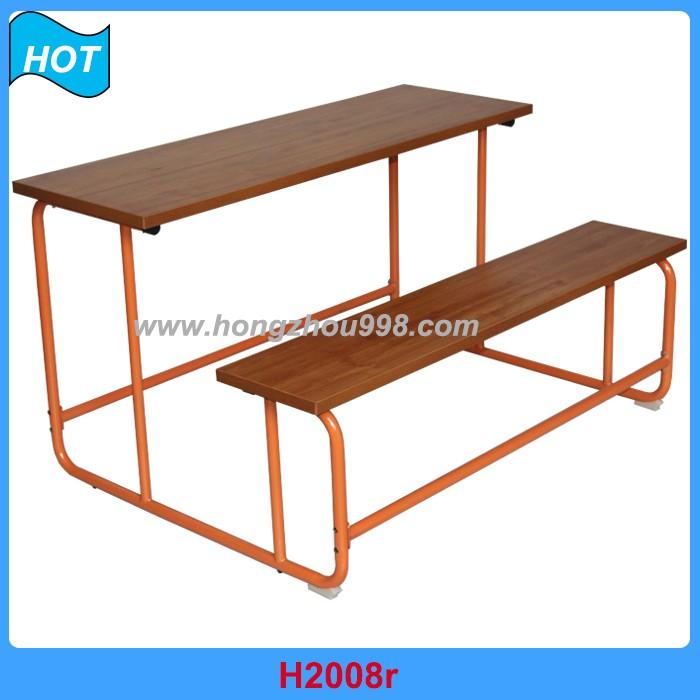 Attaccato scuola scrivania e sedia sedili doppi regolabile for Mobilia o mobilio