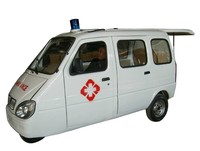 china enclosed 3 wheel motorcycle for ambulance use
