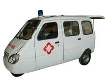 china enclosed 3 wheel motorcycle for ambulance use