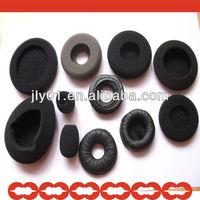 Doughnut Cushion Ear Cap/Donut ear cushions Foam ear pads/Black Microphone Grill Foam Cover