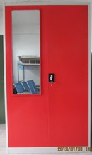 Top grade red pink steel wardrobe locker cabinet lovely locker with mirror/lock