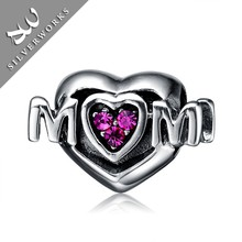 925 Sterling Silver Mother Day Gift MOM Charms for Jewelry