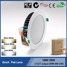 2015 hot sell recessed downlight 18W led downlight Ip44 6inch led retrofit recessed downlight CE ROHS