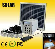 solar home lighting kit charging mobile phone function