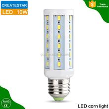 High brightness AC85~265V SMD5730 high quality e27 led corn light bulb with CE&Rohs certificated
