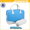 Diamond quilted pattern exterior computer bag , business briefcase top quality