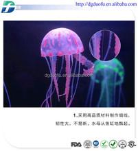 2015 Eco-friendly/Non-toxic large size silicone jellyfish aquarium decoration