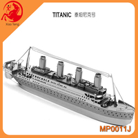 Self Assembly Education Toy TITANIC 3D Metal Puzzle