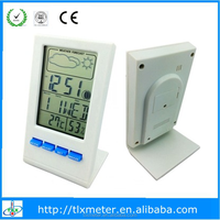 Large digital lcd display Thermometer/hygrometer/clock/weather station