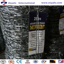 Electro et chaud plongé immersion à chaud de zinc placage barbed wire ( fabricant spécialisé )