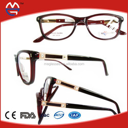 2015fashion acetate optical frame with spring and new design and lowest price