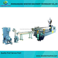 Parallel twin screw extruder granulator for plastic granules making