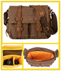 2138 Custom Casual Travel Coffee Canvas Shoulder Bags for Camera Pouch