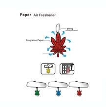 car paper air freshener/Hot Sale Cheap Custom Apple Paper type hanging car air freshener/paper air freshener