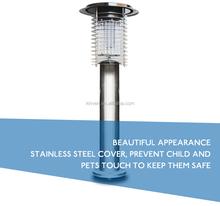 Stainless Steel Portable Solar Pest Mosquito Killer Lamps, Garden Landscape LED Bug Zapper