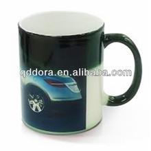 photo changing mug with hot water,heat sensitive mug,color changing thermal mug