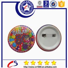 Tin button badges/ plastic button badge clip/blank souvenir pin button for sale
