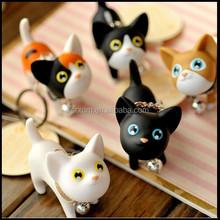 Jingle Keyring Gift Toy Fashion Cartoon Cat Keychain Hot Vinyl Kitten,custom plastic cat keychain,custom cartoon keychain gift