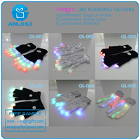 Fairy street dance nylon led flashing gloves