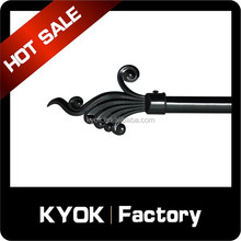KYOK Muslim Style Black Rustless Curtain Rod Series, Elegant Curtain Pole Systems