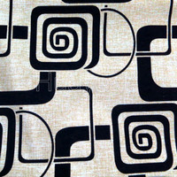 geometric flocking linen look chinese upholstery fabric for sofa