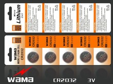 CR2032 lithium button cell CR2032 battery lithium ion cell