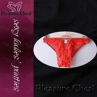 lady hot red sexy panties underwear, lingerie