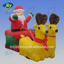 2012 promotional inflatable Father Claus pulling by two deers