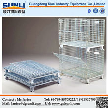 Warehouse foldable steel metal storage cage