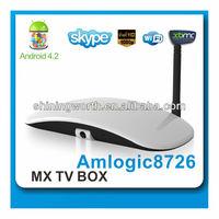 Hot Google 1080p HDMI Android 4.2 Dual Core TV Box Support Driverless Camera Skype OTT BOX