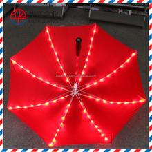 23 inch 8 panels transparent clear dome umbrella led umbrella