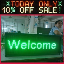 Sunrise Factory price Best quality C1664 series aluminium frame USB rechargeable led scrolling message sign