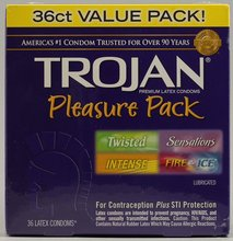 Trojan Stimulations Premium Latex Condoms, Ultra Ribbed, Value Pack - 36 condoms